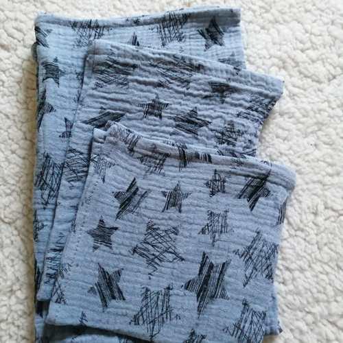 hydrofiel, hydrofielsetje, oud blauw, spuugdoek, washandje, luier, kraamcadeau, handgemaakt