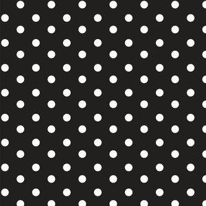 babynestje babyproducten babykamer handmade zwart met witte stip katoen