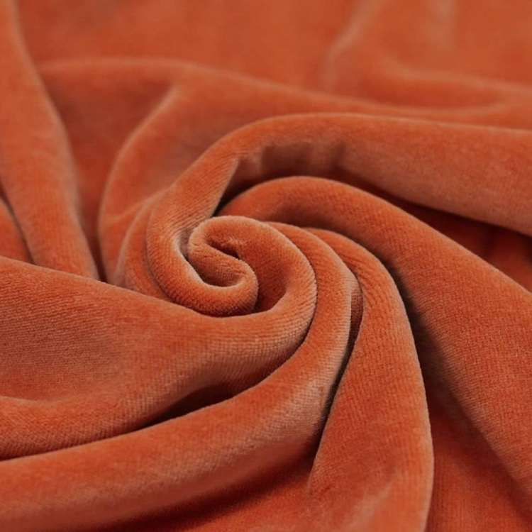 Velour burnt orange