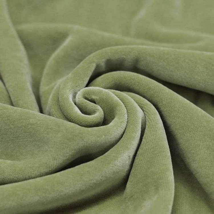 Velour olive groen