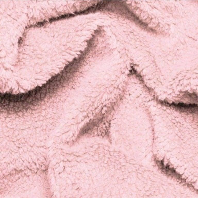 teddy roze, omslagdoek, kinderwagendeken, ledikantdeken, wiegdeken, handgemaakt, babykamer, babyproducten
