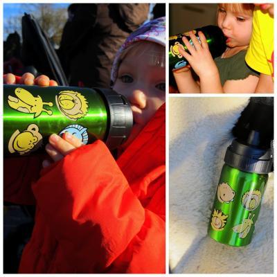 Ecococoon Trinkflasche mit süßen Tiermotiven