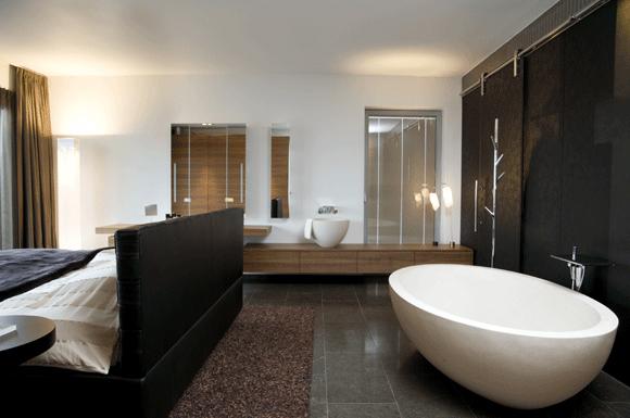 slaapkamermetbadkamer  Kleine badkamers