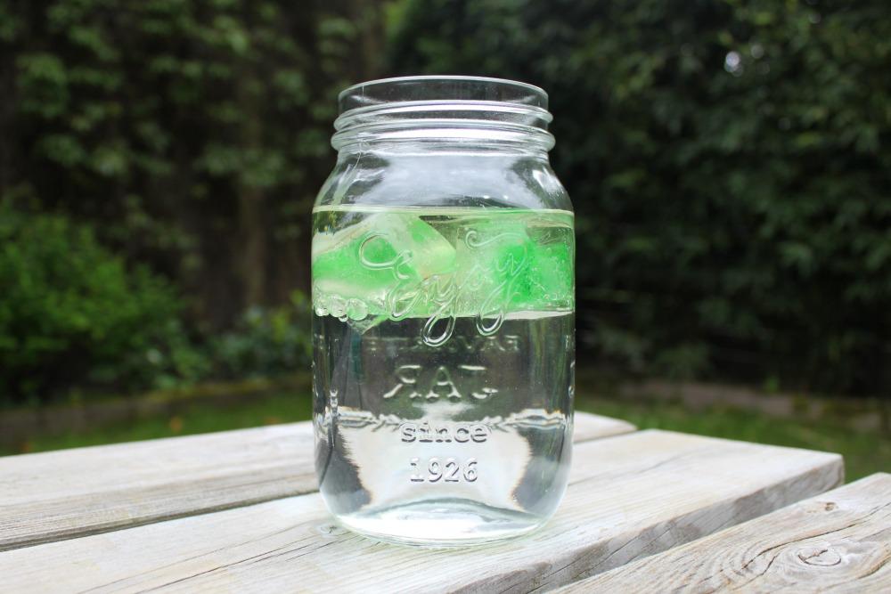 Experiment met olie en ijs