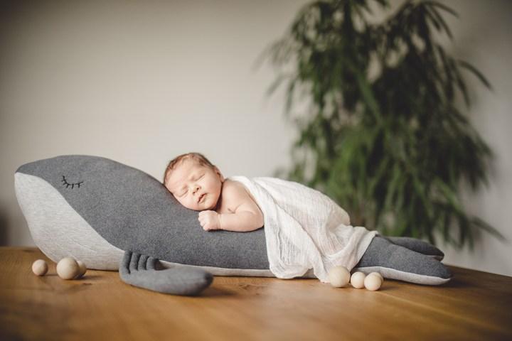 DIY Kuschelwal Baby Neugeboren Homestory