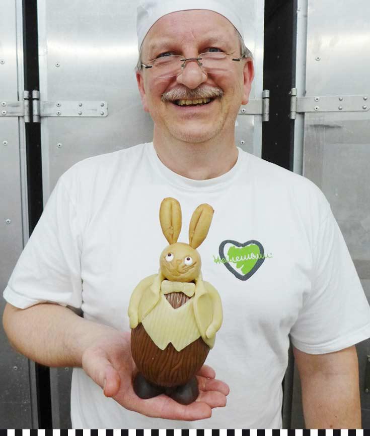 Frühlingslaune: Meister Witt zeigt, wie der der Hase läuft