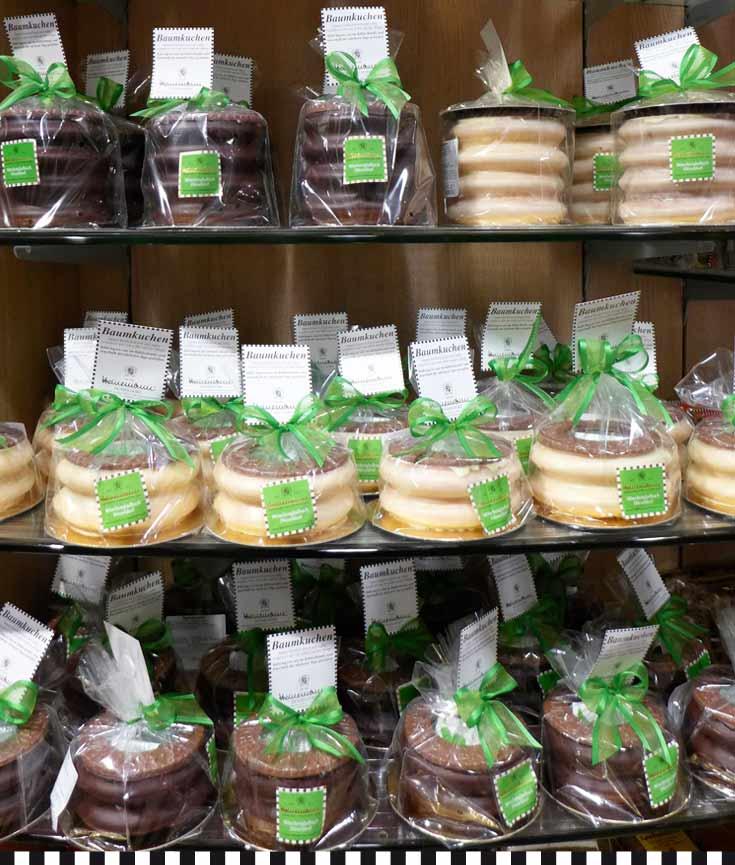 Baumkuchen Auswahl bei Heinemann