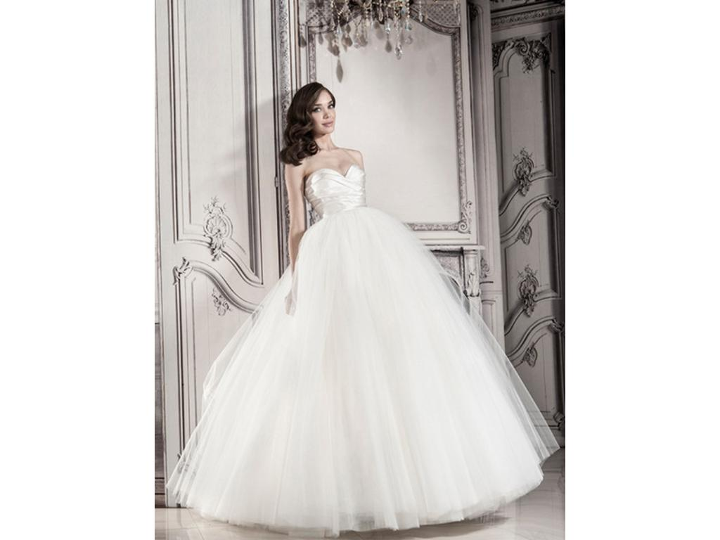 Strapless Ball Gown With Tulle Skirt