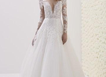 36b20d48762b Glamorous Bateau Long Sleeves Wedding Dress Lace Princess Bridal Gowns  Online Item Code We039 · Long Sleeve Wedding Dress ...