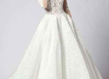 68f709b44fb5 Long Sleeve Beaded Lace Illusion Bodice With Ball Gown Skirt Wedding Dress  · Long ...