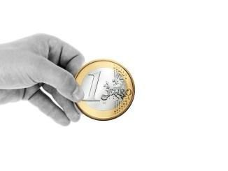 Münzen spenden