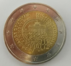 Zwei Euro Münze Rückseite