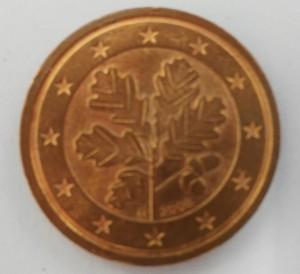 Zwei Cent Münze Rückseite