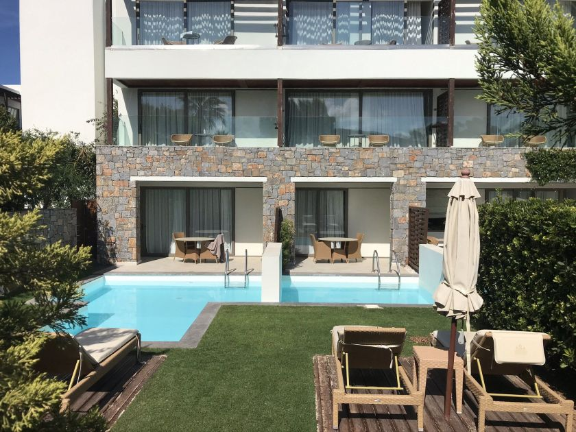 Kreta Amirandes private Pool Zimmer