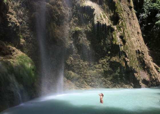 Philippinen Cebu Tumalog Falls Oslob