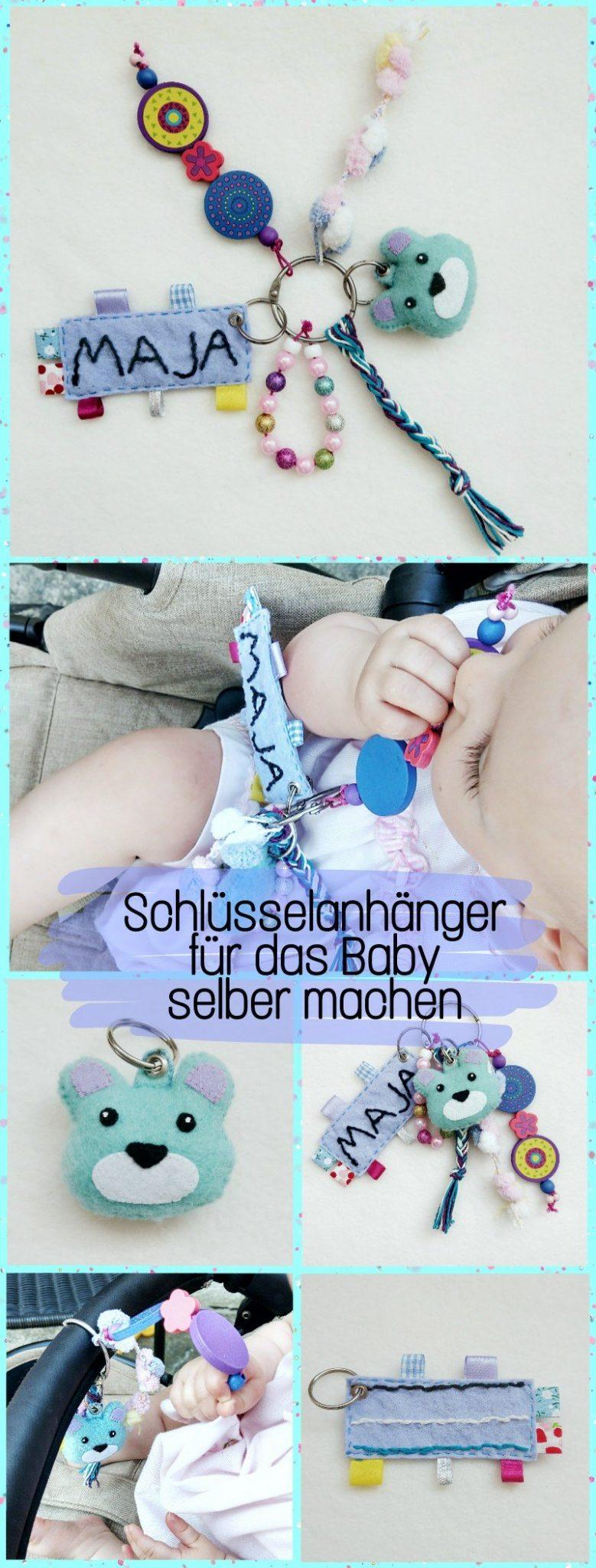 Hier zeige ich euch wie ihr einen tollen Schlüsselbund für euer Baby selber machen könnt. Da gibt es was zu sehen, zu fühlen, zu hören und zu spielen. Eine Beschäftigung für Baby's für zwischendurch. Auch ein tolles DIY Geburts-Geschenk für Neugeborene Babys.