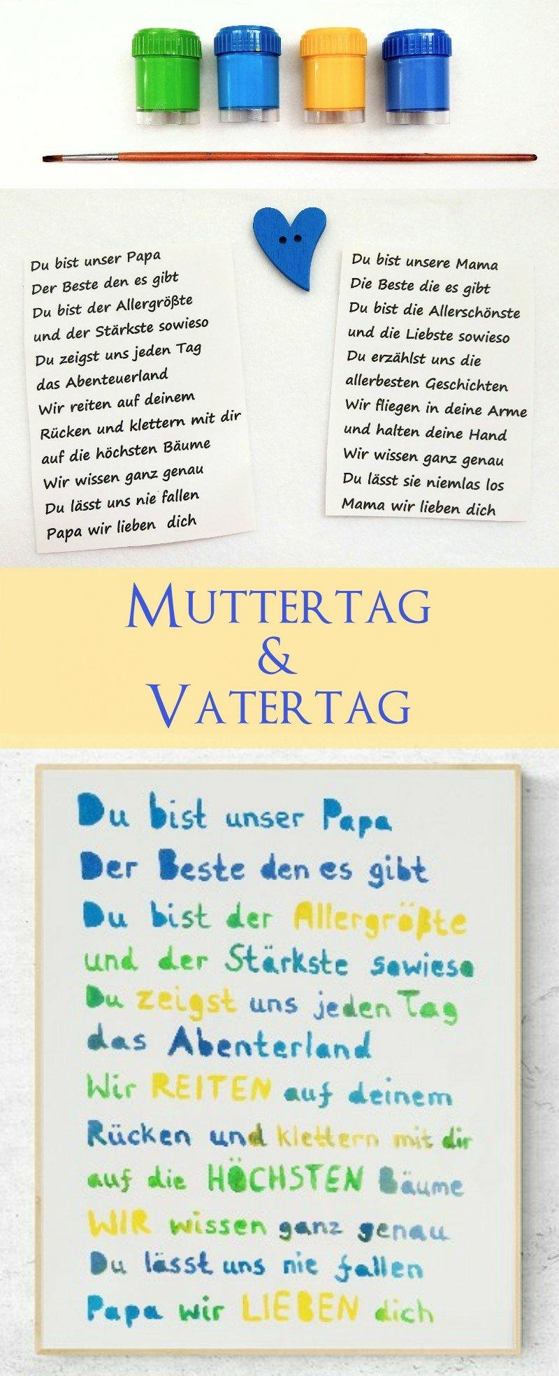 Ein toller Spruch als Geschenkidee zum Muttertag oder Vatertag. DIY mit Schritt-für-Schritt Anleitung.
