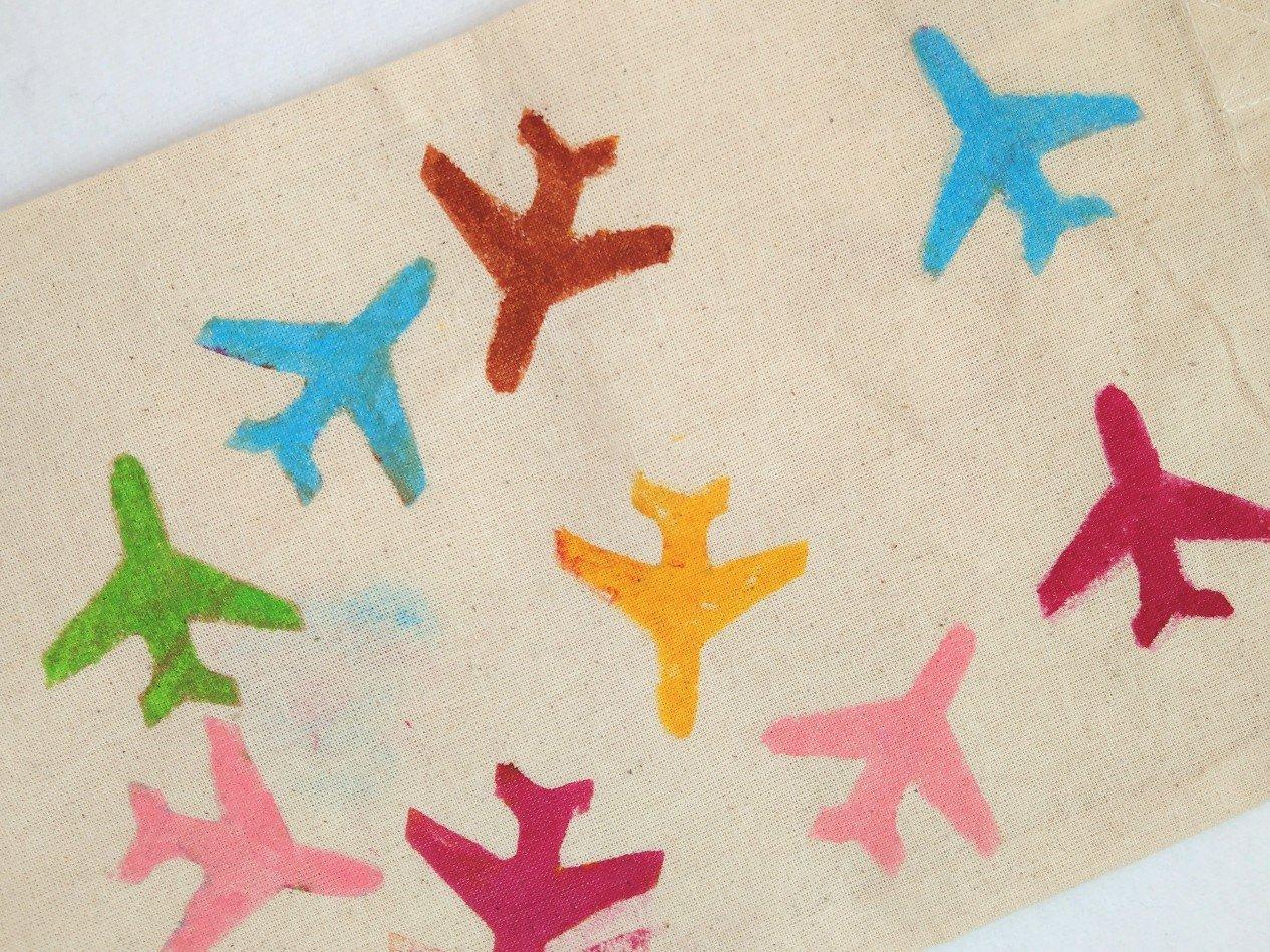 Stoff bedrucken mit DIY Stempel aus Moosgummi