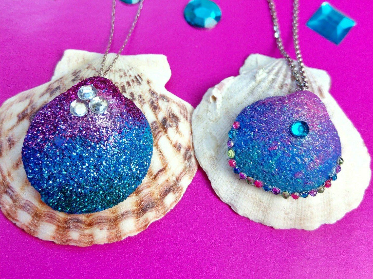 Meerjungfrauen Ketten aus Muscheln – tolle DIY Idee für verregnete Sommertage