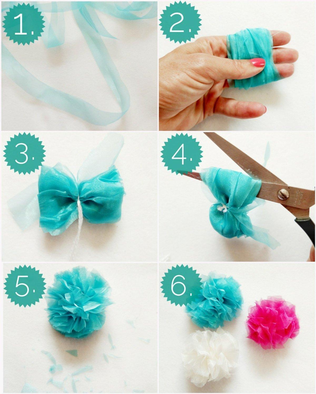 Pompons aus Tüll sind eine echte Alternative und sehen Klasse aus. Schritt-für-Schritt Anleitung
