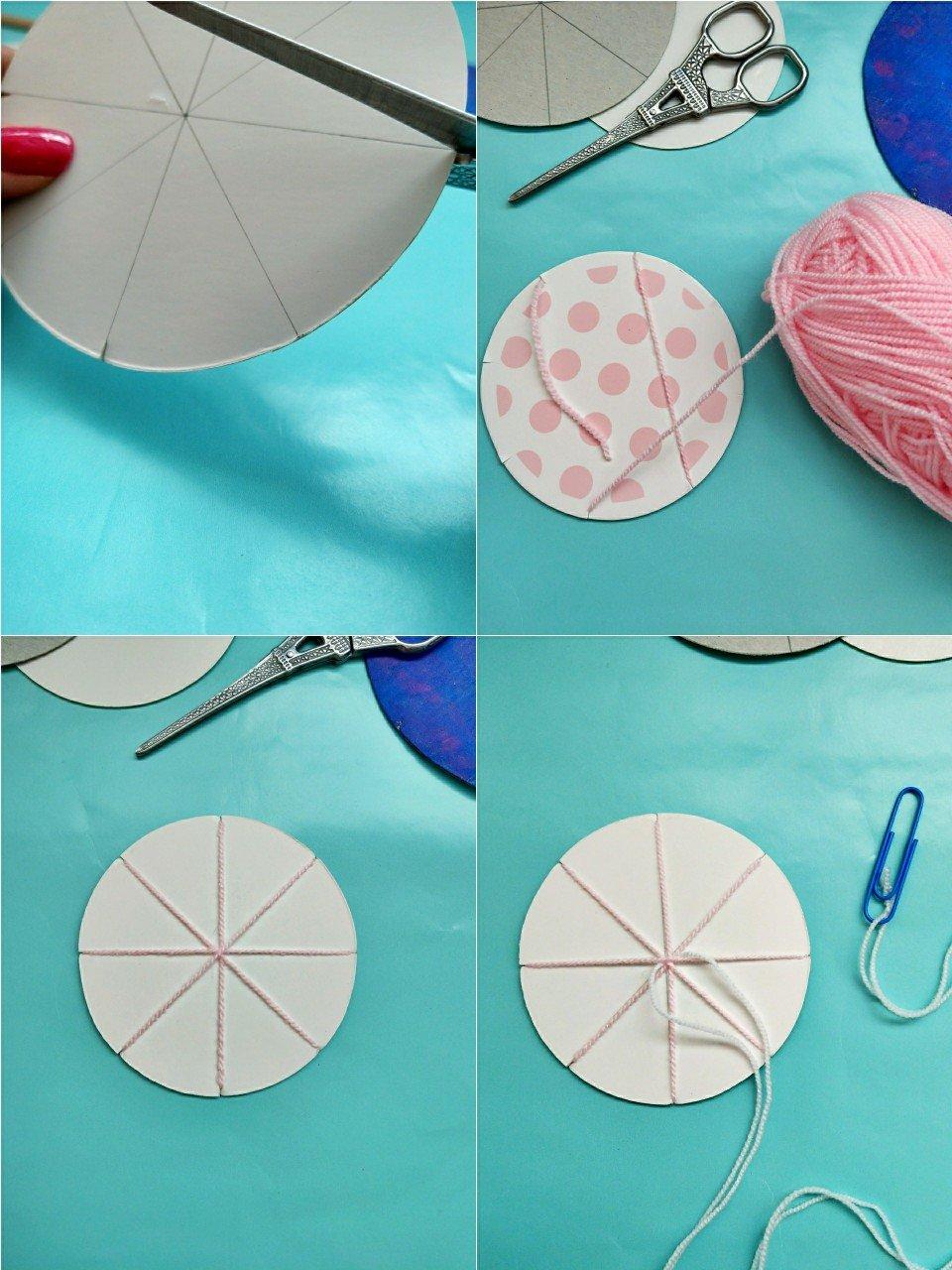 Hier zeige ich euch Schritt für Schritt wie ihr einen runden Webrahmen selber machen könnt. Tolle Anleitung und Bastelidee für Kinder.