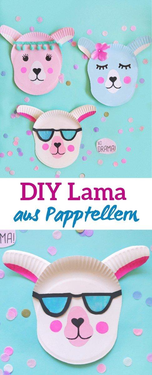Hier zeige ich euch wie ihr ein Lama aus Papptellern basteln könnt. Tolles Sommer-DIY für Kinder. Das süße Lama kann alsvDekoration an die Wand gehangen werden. #lama #alpaka #bastelidee #dekoidee