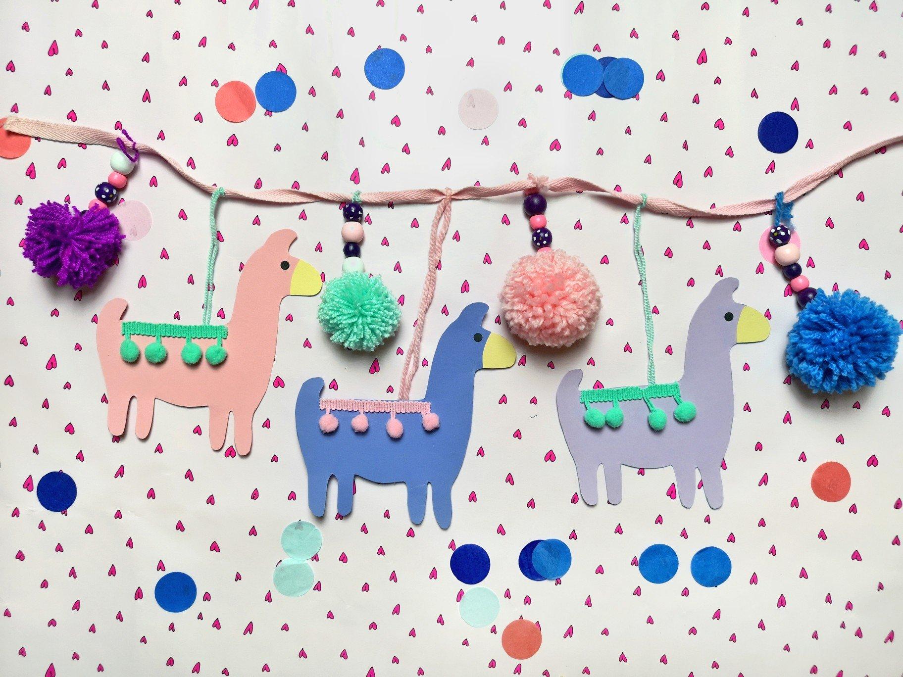 DIY Lama Girlande – Deko für das Kinderzimmer selber machen