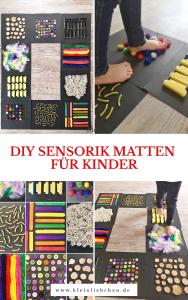 Wie ihr DIY Sensorik Matten für Kinder selber machen könnt, erfahrt ihr hier. Unsere Kinder haben jede Menge Spaß daran, die unterschiedlichen Materialien mit den Füßen zu erkunden. Schnell und einfache Beschäftigungsidee für Kinder. Ideen, Anleitung und Bilder als DIY