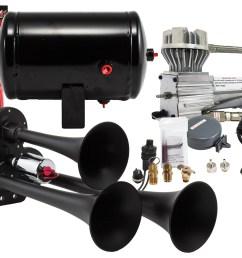 model hk3 chrome triple air horn kit kleinn air horns triple air horn wiring diagram [ 4500 x 2644 Pixel ]
