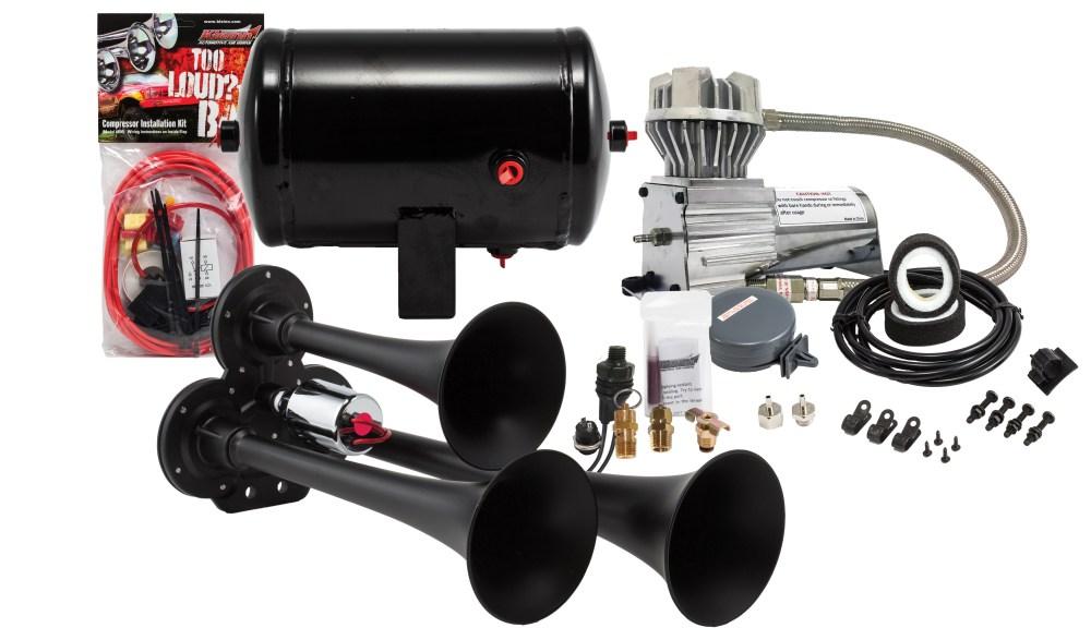 medium resolution of model hk3 chrome triple air horn kit kleinn air horns triple air horn wiring diagram