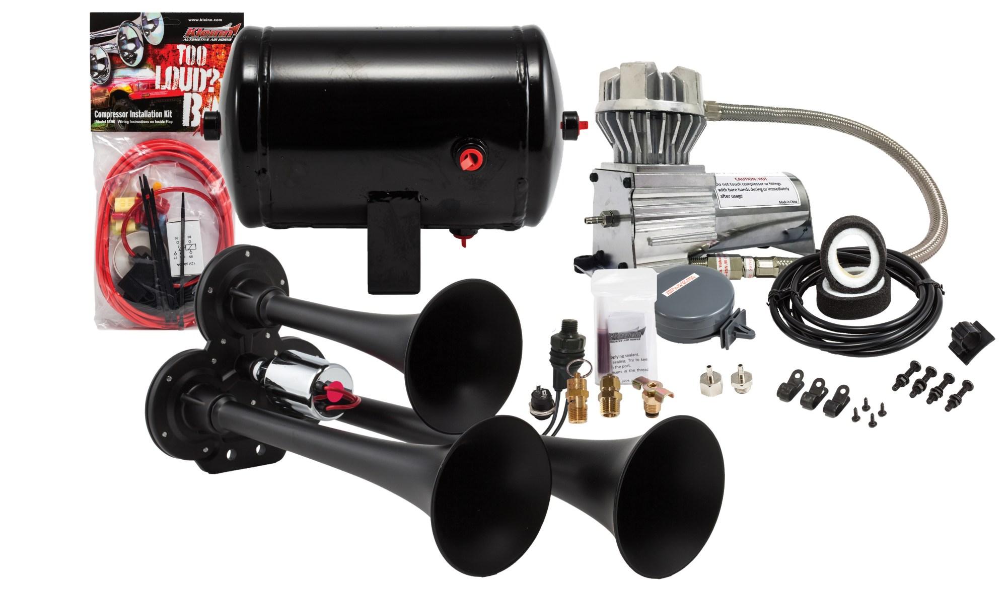 hight resolution of model hk3 chrome triple air horn kit kleinn air horns triple air horn wiring diagram