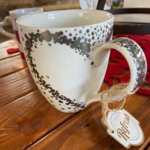 Heart glitter mug