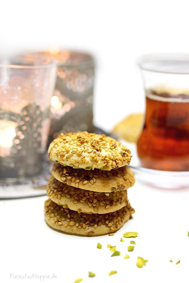 Rezept für Barazek - arabische Sesamkekse
