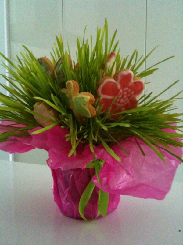 essbare Blumen Kekse zum muttertag