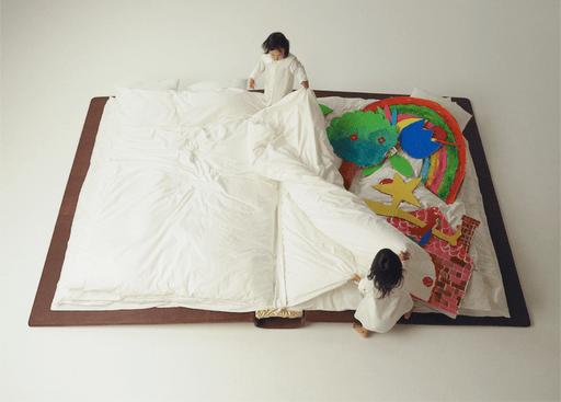 Buch oder Bett : Schlafen und Spielen