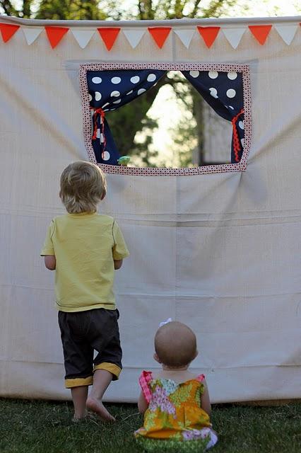 (Deutsch) Puppentheater im Garten : Selbstgemacht!