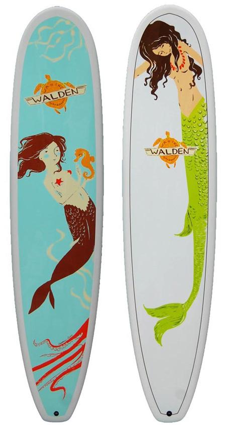 Surfboard : Meerjungfrauen wie aus dem Bilderbuch
