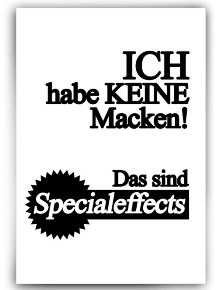 Specialeffects : Spruch Poster