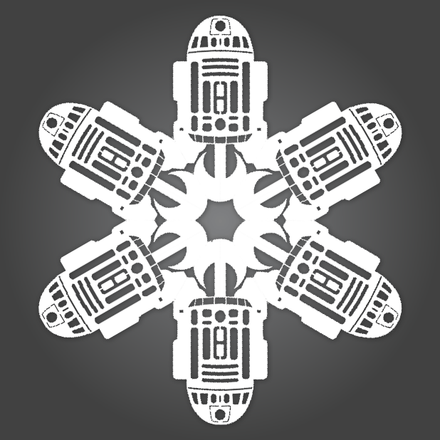 star wars snowflakes matters of grey R2-D2