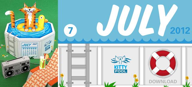scout creative free printable 3D calendar july