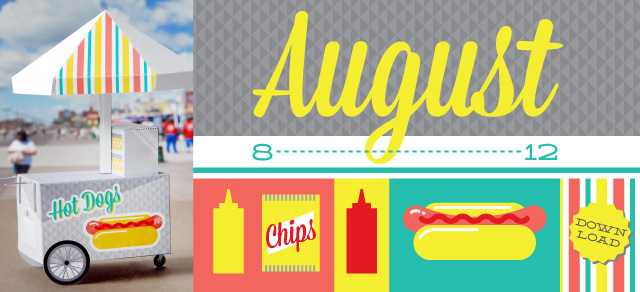 Good Morning August : free calendar!