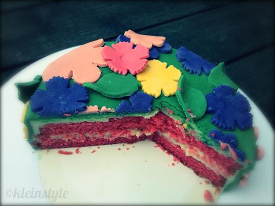 flower field cake blumenwiese kuchen torte kindergeburtstag kleinstyle's party