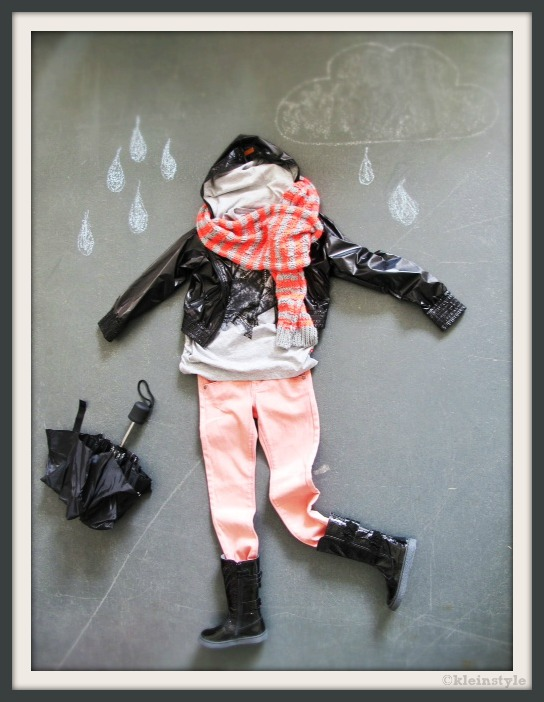 style of the months kids fashion rain vs sun girls outfit