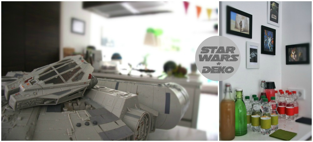 Star Wars Kids themed birthday party decoration millenium falcon yoda soda kindergeburtstag