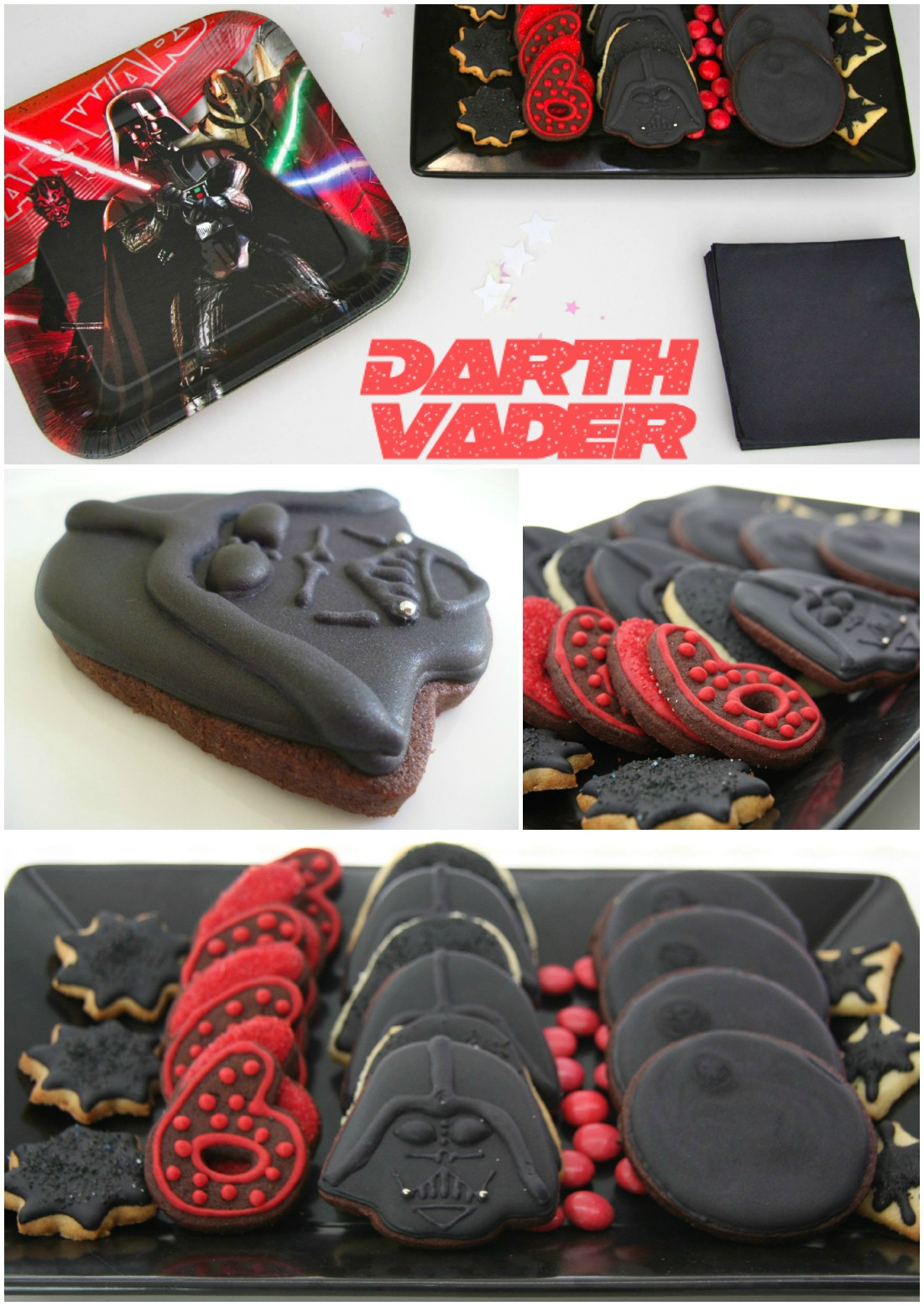 Star Wars themed Kids birthday party Darth Vader cookies kekse Kindergeburtstag