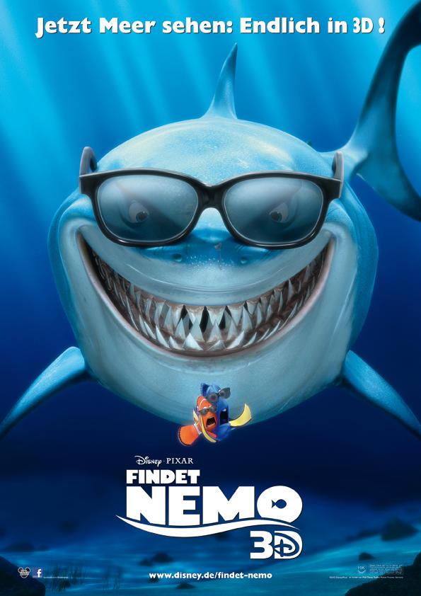 Disney Pixar Findet Nemo 3D Film Plakat
