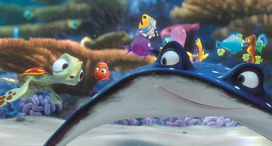 disney pixar findet nemo filmszene Rochen Schule