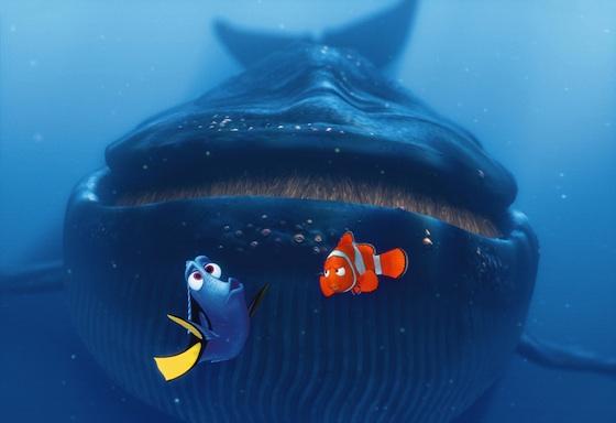 Disney Pixar Findet Nemo Filmszene Dorie und Marlin vor Wal