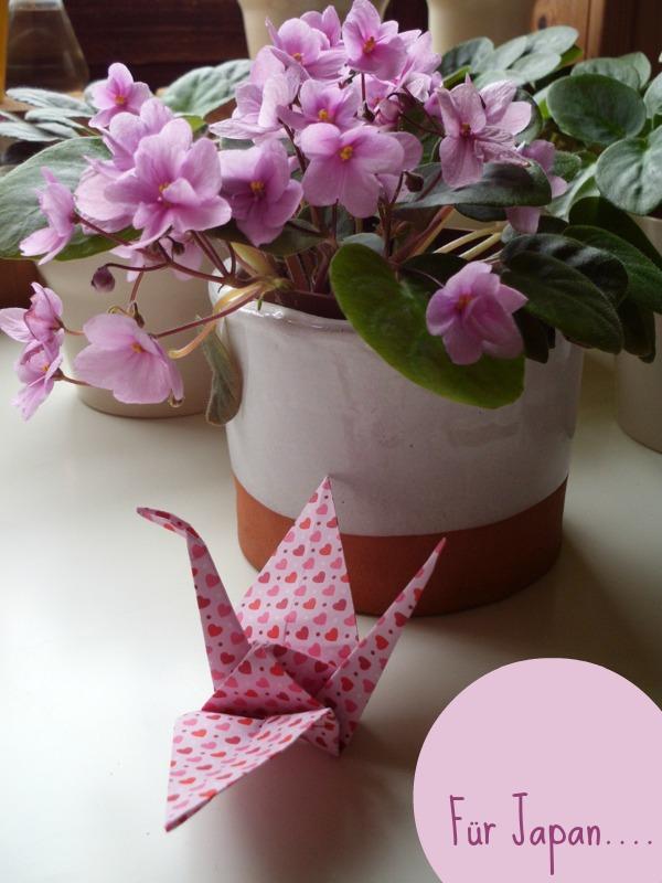 origami Kranich Jahrestag Fukushima Japan