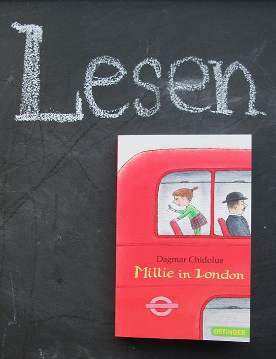 Lesen : Millie in London Kinderbuch auf kleinstyle.com von Dagmar Chidolue Lesung Millie in Berlin